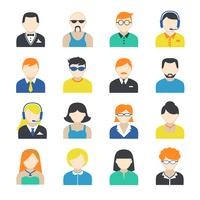 Set di icone di carattere avatar vettore
