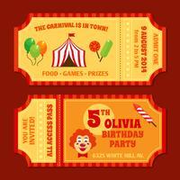 Modello di biglietti di circo