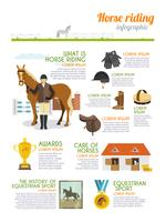 Set di infografica fantino