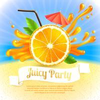 Festa del succo d'arancia vettore