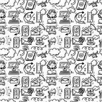 Contattaci schizzo di icone vettore