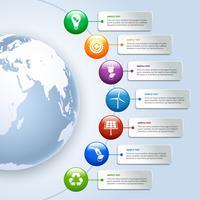 Infographics di energia verde vettore