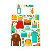 Shopping vendita portare emblema della borsa vettore