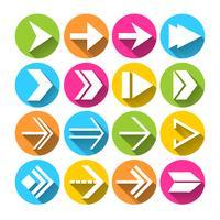 Set di icone simboli freccia