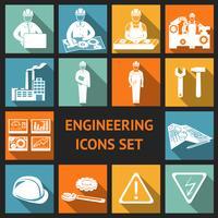 Set di icone di ingegneria piatta