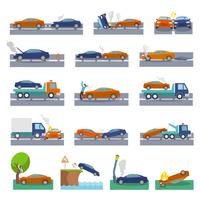 Icone di incidente d'auto