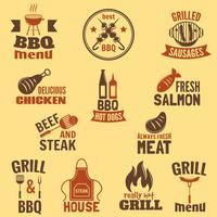Etichetta griglia per barbecue