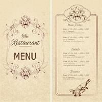 Modello di menu del ristorante?