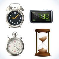 Set di orologio realistico vettore