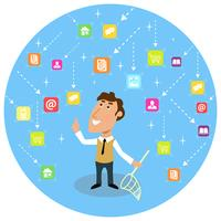 Astratto concetto di comunicazione sociale