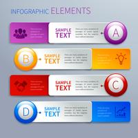 Bandiere di opzione di infographics di carta
