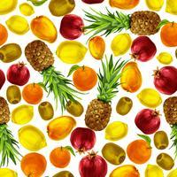Modello senza cuciture di frutti tropicali vettore