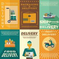 Set di poster di consegna vettore