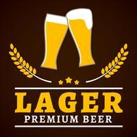 Poster di birra lager vettore