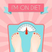Poster di peso dieta sana vettore