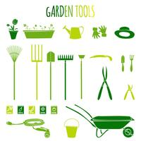 Set di icone di attrezzi da giardino