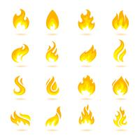 Icone di fuoco fiamme