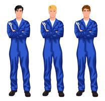 Set di lavoratore meccanico auto