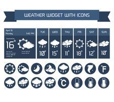 Set di icone del widget meteo