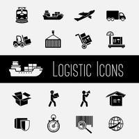 Set di icone della catena di fornitura