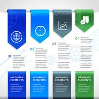 Elementi di infographics di affari di carta astratta vettore