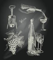 Set decorativo lavagna vino