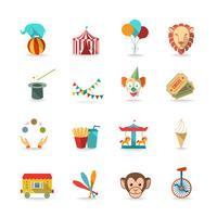 Set di icone del circo