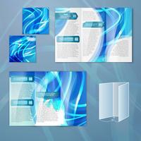 Modello di brochure blu vettore