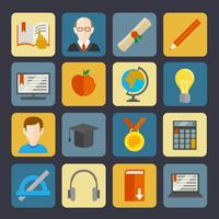 Set di pulsanti di e-learning