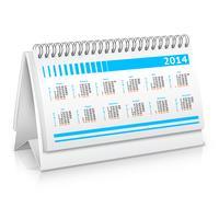Mockup del calendario da tavolo vettore