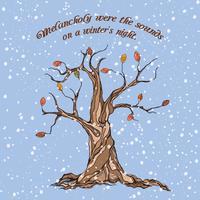 Poster albero d'inverno