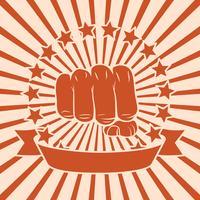 Fist poster di fumetti vettore