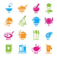Set di icone di cottura