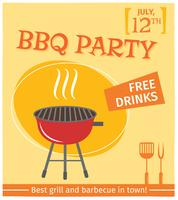 Poster griglia barbecue