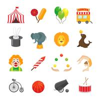 Set di icone del circo vettore