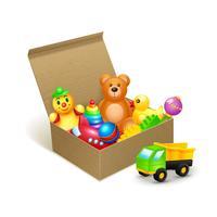 Emblema di scatola di giocattoli