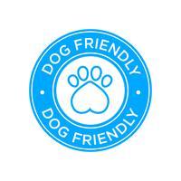 Icona amichevole del cane vettore