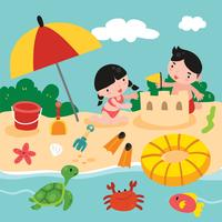 giocattoli da spiaggia vettore