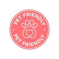 Icona amichevole degli animali domestici vettore