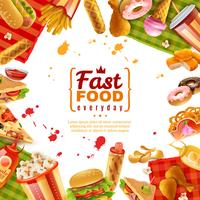 Modello di fast food vettore
