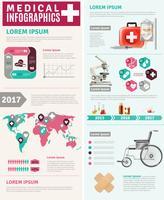 Poster infografico di ricerca sanitaria in tutto il mondo
