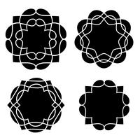 forme di medaglione nero vettore