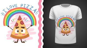 Pizza carina - idea per t-shirt stampata vettore