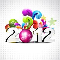 design del nuovo anno vettore