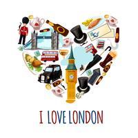 Poster turistico di Londra vettore