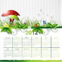 calendario eco verde vettore