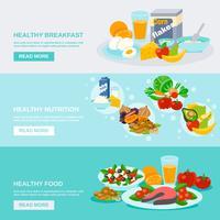Banner di cibo sano vettore