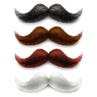 Set di colori baffi finti vettore