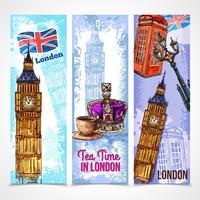 Set di banner di Londra vettore