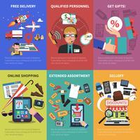 Set di mini manifesti di vendita online